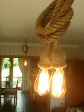 3 Mtr JUTE ROPE COVERED 2 CORE LIGHT FLEX WIRE CORD HANGING LAMP PENDANT CEILING