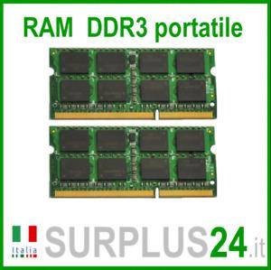 Kit RAM 4GB (2x2GB) DDR3 PC Portable PC3-10600S 1333Mhz Sodimm Ordinateur Noecc