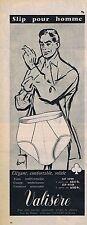 PUBLICITE ADVERTISING 015 1956 VALISERE slip pour homme