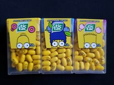 Lot of 3 New Limited Edition Simpsons Tic Tac Homer Marge Bart Donut Blueberry