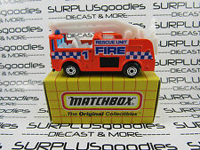 MATCHBOX 1:64 1993 MB 63 MB63 Neon Orange SNORKEL FIRE TRUCK Engine with Box