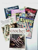 Lot of 6 Crochet Collection Knit Pattern Books Magazines Afghans