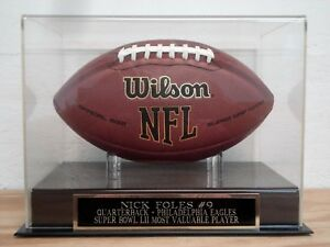 Nick Foles Football Display Case With A Philadelphia Eagles Engraved Nameplate