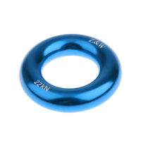 22KN Rock Climbing Arborist Rappel Ring Bail-Outs Rigging Equipment Blue 5cm