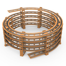 4.5 Level, 50cm Double Track Helix for Hornby, Peco R3/R4. Free Delivery in EU