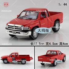 Red 1/44 Dodge Ram 1500 pickup truck Diecast Model Car Pullback 1/44 By Kinsmart