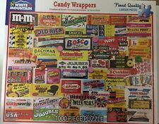 White Mountain Jigsaw Puzzle Candy Wrappers 1000 Piece NEW