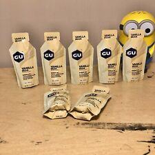 GU Energy Gel 7 Pack Vanilla Bean, Best by 12/20