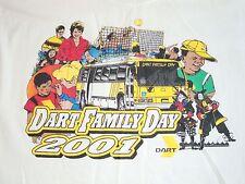 Vintage Dart Family Day 2001 Busses Train Community T Shirt L