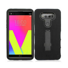 Rugged Dual Layer Shockproof Case w/Stand Silicone+Plastic Cover for LG V20