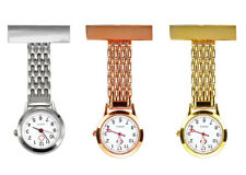 Stainless Steel Gold Nurse Watch Brooch Tunic Fob Watches Pocket Pendant Quartz
