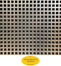 Lastra Lamiera Forata zincata foro quadro mm 10 sp. mm 1 -  mm 500x1000 -griglia
