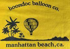 Vintage Mens XL 80s California Hot Air Balloon Team Beach Graphic Yellow T-Shirt