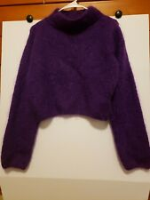 MARCASIANO Small Women's Sweater 75% Mohair Purple Super Fuzzy and Comfy!