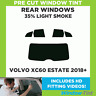 Pre Cut Window Tint - Volvo XC60 Estate 2018+ - 35% Light Rear