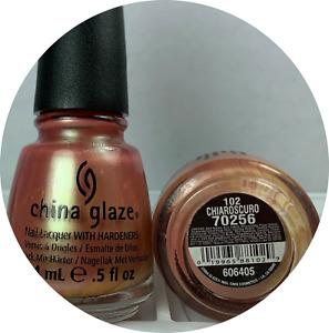 China Glaze Nail Polish Chiaroscuro #102 Neutral Tan Rose Pink Shimmer Lacquer