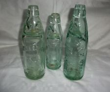 3 Different Attractive Codd Bottles from Evesham, Ludlow and Redditch