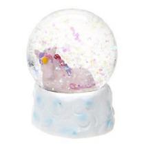 45mm Unicorn Snow Globe Decoration - PINK - Gigi Queen Adventures  - HL482-PINK