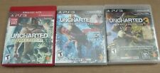 Lot 3 PS3 Uncharted Games Trilogy Uncharted 1 2 3 CIB Complete PlayStation 3 L2