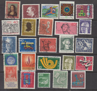 Lot of Germany Commemoratives, Definitives Stamps Used Off Paper
