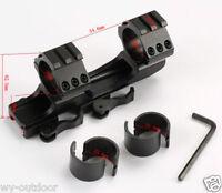 "1X Tactical QD 1""/30mm Ring 20mm Picatinny Weaver Rail Cantilever Scope Mount HQ"