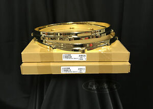 """Ludwig Die Cast Snare Drum Hoops 14"""" 10 hole/lug top and bottom in brass"""