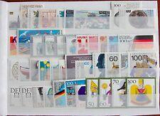 Germany Complete Year 1990 Stamp Set + Souvenir Sheet Singles MNH German Stamps