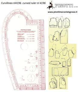CURVILINEO PROFESSIONALE 4196 PER SARTORIA CM 35 X 19 CURVILINEE  MULTIFUNZIONE