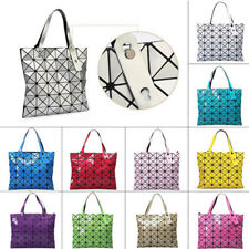 New Women Quilted Sequin Shoulder Bag Geometric Lattice Laser Ladies Handbag