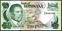 1992 Botswana 10 Pula Banknote* D/43 946106 * UNC * P-12a