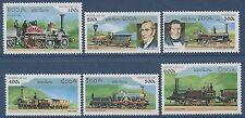 LAOS N°1245/1250** Locomotives à vapeur, 1997, Steam trains Sc#1305-10 Set MNH