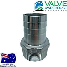 "Hose Barb Stainless Steel 316 - Male BSP - 8mm (1/4"") - 100mm (4"")"