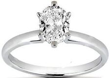 2.03 ct Oval Shape Diamond Engagement Solitaire  Wedding Ring 14k White Gold