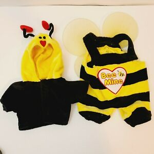 Build a Bear BAB Outfit Bee Be Mine Bumble Bee Wings Yellow 2 pc Hearts