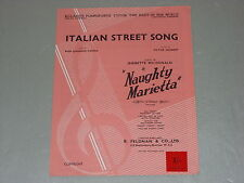 "Italian Street Song from ""Naughty Marietta""   Sheet Music"
