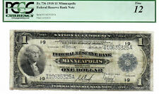 1918 $1 MPLS MN I-9 Fr.736 PCGS Cert. Fine 10 FRBN National Currency 8565