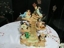 Friends Of The Feather by Enesco 1996 Rock Cliffwaterfallwith6 Figurines
