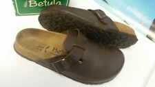 Birkenstock Betula Brown Leather Clog Slides  size Men's 4 Ladies 6 - 37 EUC