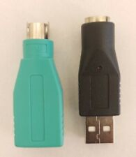 1-Green and 1-Black USB to PS/2 Adapter Connector Computer Plug