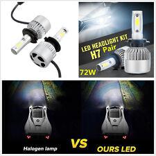 2 Pcs Car DC9-32V H7 6500K LED Headlights Conversion Cree COB Lamps Plug & Play