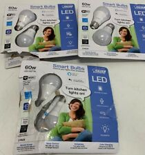 FEIT Electric Smart LED Bulbs Remote Access Dimmable 60w Open Package 6 Pack