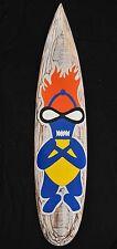 Tiki Surfboard zum Aufhängen Surfbrett 100cm Dekoration im Tiki Style Surfer