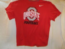 Preowned Men's Size L Nike Dry-Fit Red Ohio State Football T Shirt