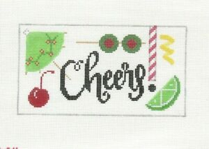 Rachel Donley Cheers Handpainted Needlepoint Canvas