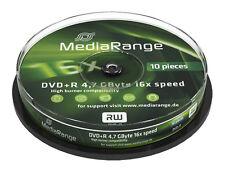 10 MediaRange DVD Rohlinge DVD+R 4,7 GB 16x fach