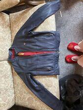 Superdry Blue Genuine Leather Jacket