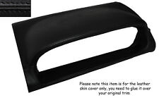 BLACK LEATHER SPEEDO HOOD SKIN COVER FITS NISSAN X-TRAIL 2005-2007 FACELIFT