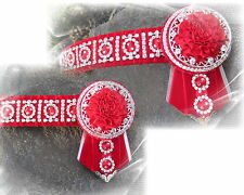 KAPTIVATION BROWBANDS - BLING DIAMONTE  - Red & Silver - ANY SIZE