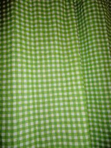 SATURDAY KNIGHT GREEN & WHITE GINGHAM CHECK FABRIC SHOWER CURTAIN 67 X 70