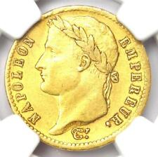 1812-W France Napoleon Gold 20 Francs Coin G20F - Certified NGC AU53 - Rare!